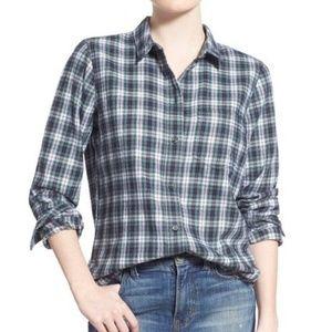Madewell plaid Boyfriend button down shirt